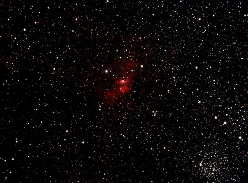 """Туманность NGC 7635 """"Пузырь"""" и скопление М52"""