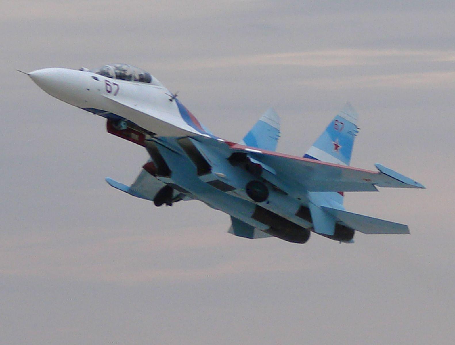 Взлет Су-27.