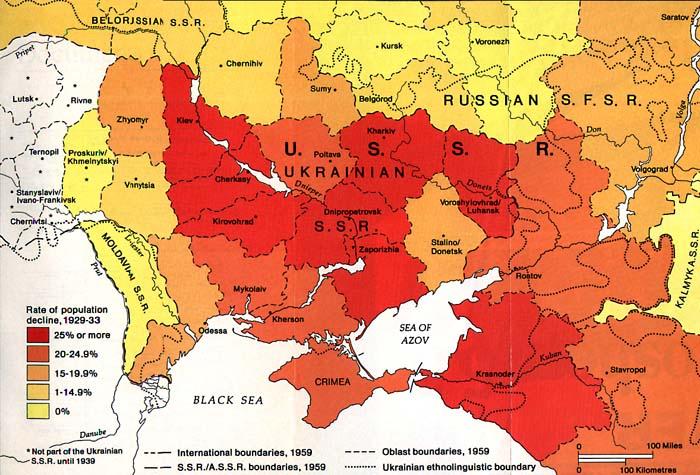 Holodomor Famine Map