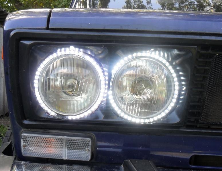 Ангельские глазки из светодиодной ленты своими руками на ваз 2106 88